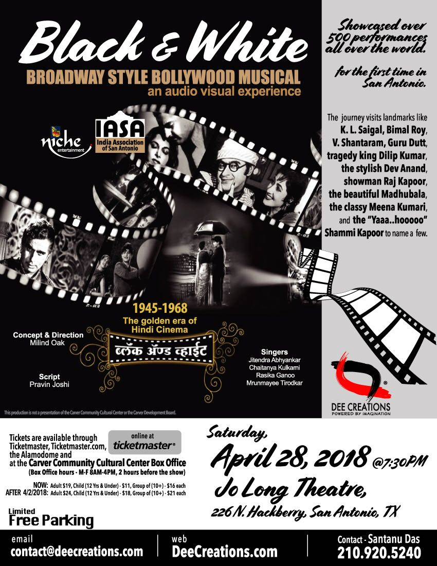 Black & White - Broadway Style Bollywood Musical